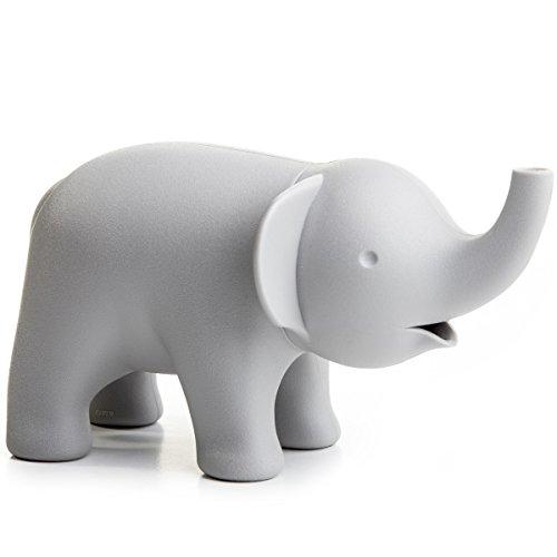 Unbekannt Zuckerspender Elefant grau recyclebarer Kunststoff Zuckerdose 14x8 cm