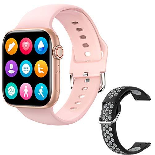 QAK Smart Watch 2021 Nuevo T800 Smartwatch Femenino Hombres Bluetooth Llamada 1.72'Toque Completo DIY Reloj Face Fitness Pulsera para iOS Android,A