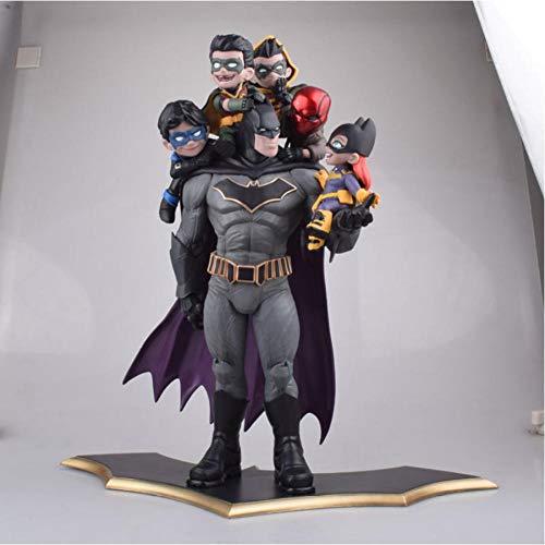 Modelo De Animebatman Family Statue Figure Toy Robin Catwoman Model Toys Anime Batman Collection Figurine