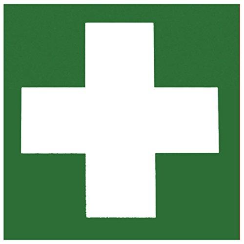 Metafranc Hinweisschild Symbol: Verbandskasten - 150 x 150 mm, nachleuchtend / Beschilderung / Verbandskasten / Erste-Hilfe-Kennzeichnung / Sicherheitsmarkierung / Gewerbekennzeichnung / 503850