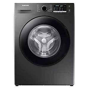 Samsung WW80TA046AX/EU Freestanding Washing Machine with ecobubble™ and Hygiene Steam, 8kg Load, 1400rpm Spin, Graphite, A+++
