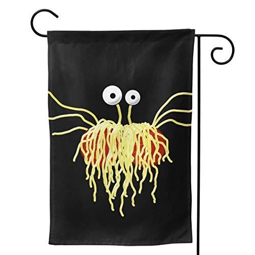 Cy-ril Bandera de Bienvenida de Monstruo Volador de Espagueti para Fiestas al Aire Libre, Decoraciones Exteriores, decoración de jardín, 12.5 x 18.0 in
