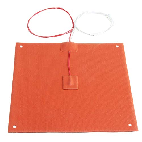 YO-TOKU 3D Printer Parts 200W 200x200mm 120v/220v Silicone Heated Bed Heating Pad with Hole for 3D Printer Modules CE