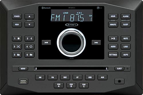 Jensen JWM60A AM   FM   DVD   CD   USB   AUX   App Ready Bluetooth Wallmount Stereo w/ App Control (Renewed)