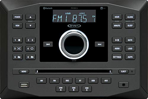 Jensen JWM60A AM | FM | DVD | CD | USB | AUX | App Ready Bluetooth Wallmount Stereo w/ App Control (Renewed)