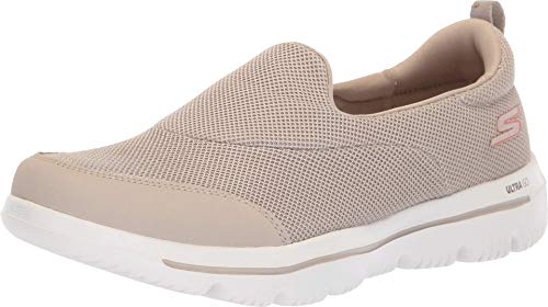 Skechers Damen Go Walk Evolution Ultra-Reach Slip On Sneaker, Beige (Taupe Tpe), 41 EU