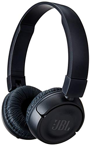 JBL Bluetooth Wireless On-Ear Headphones with Built-in Remote and Microphone,T450bt,Black (Renewed)