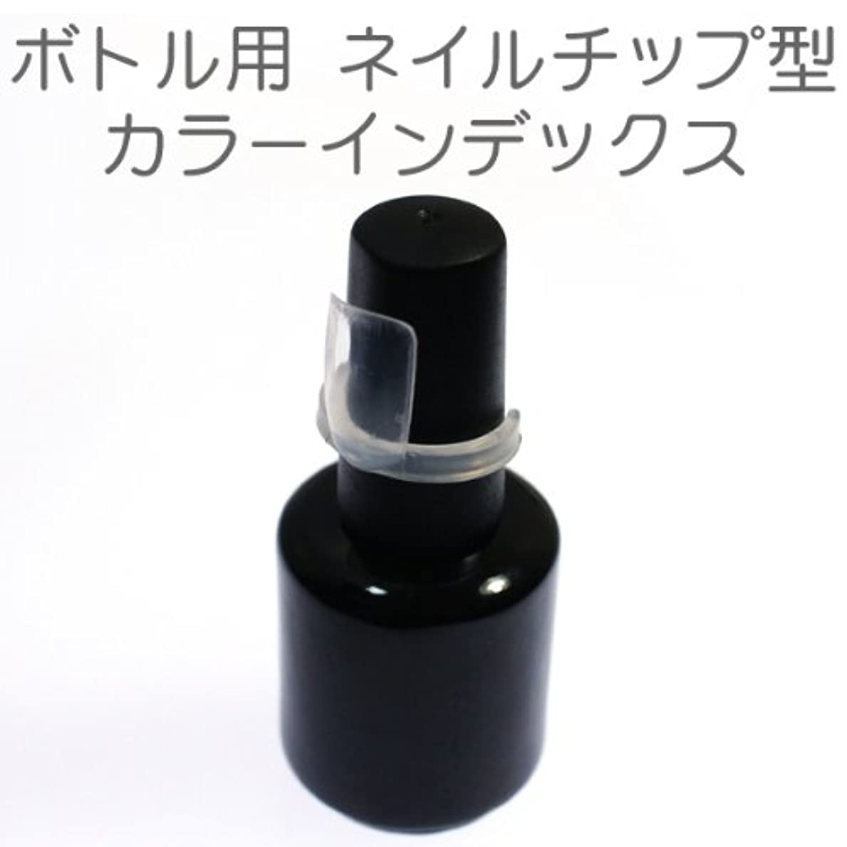 バンガロー患者発表するボトル用カラーインデックス ネイルチップ型 50個セット ネイル カラーチャート