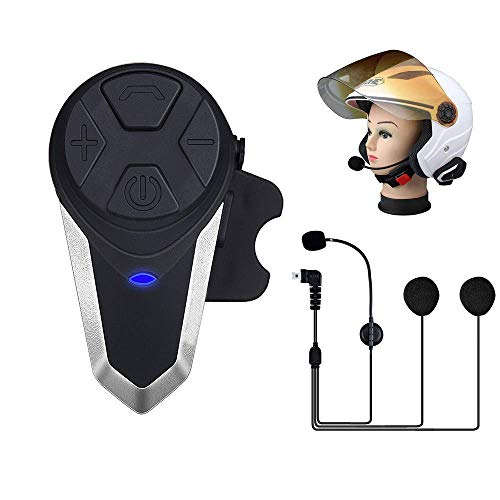 1 Packs of Soft Headphone Fodsports Bluetooth Casco Moto Interfono Auricolari Bluetooth Moto BT-S3 Intercom Bluetooth FM Radio Impermeabile Motorcycle Motorbike Helmet Bluetooth Headset con Tipo C