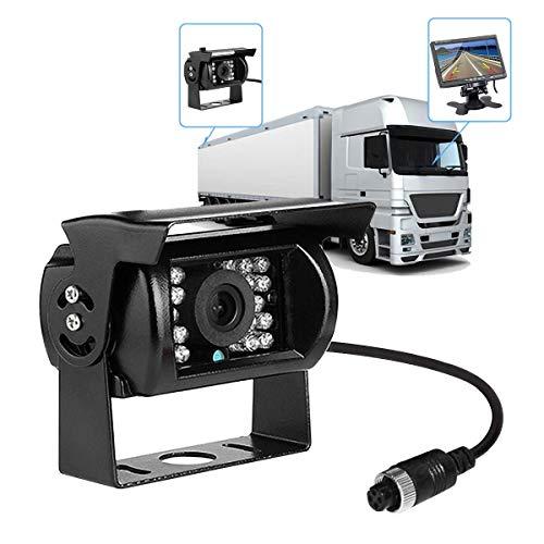 MASO Rückfahrkamera für LKW, mit 10 m Kabel, wasserdicht, 18 IR-LEDs, 170 Grad, 4 Pins, High Definition, CCD-Fahrzeug, Rückfahrkamera für schwere Lastwagen, Auto, Van, Anhänger, Bus, Wohnwagen