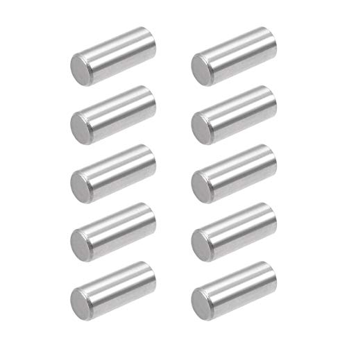 uxcell 10Pcs 8mm x 20mm Dowel Pin 304 Stainless Steel Pegs Support Shelves Silver Tone