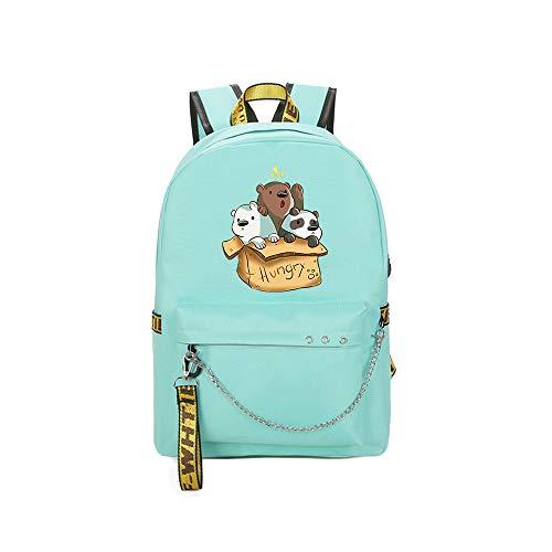 We Bare Bears School Bag Mochila de Escuela Secundaria