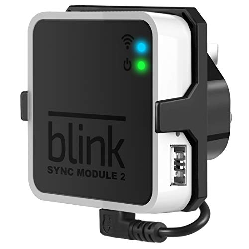 Outlet Wall Mount for Blink Sync Module 2- Blink Accessories for Blink All-new&Blink XT2&Blink XT Outdoor and Indoor Home Security Camera Mount with Short Cable (Black)