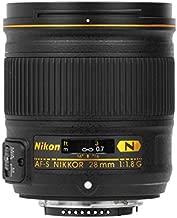 Nikon AF FX NIKKOR 28mm f/1.8G Compact Wide-angle Prime Lens with Auto Focus for Nikon DSLR Cameras