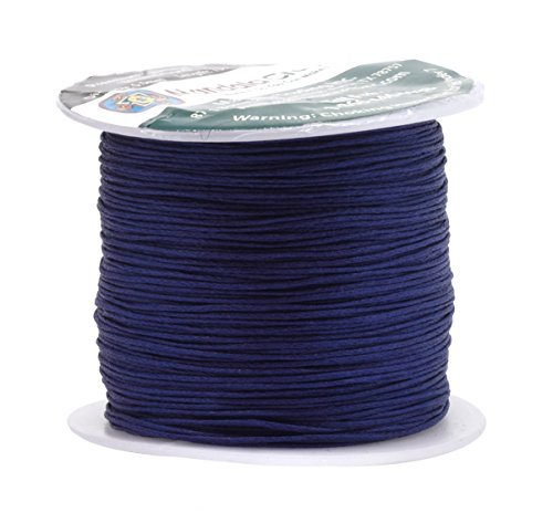 Mandala Crafts 0.5mm 109 Yards Jewelry Making Crafting Beading Macramé Waxed Cotton Cord Thread