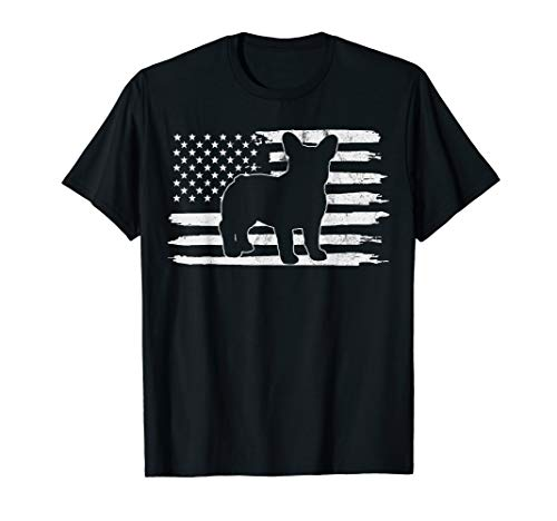 Frenchie 4th of July French USA Flag Gift T-Shirt