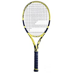 Rafael Nadal`s racquet of choice, The Babolat 2019 Pure Aero Tennis Racquet get some nice upgrades and a beautiful bright yellow and black finish. The driving force for the Aero series is the Aeromodular beam construction for less wind drag and incre...