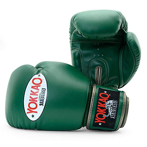 YOKKAO Matrix - Guanto da boxe traspirante Muay Thai, 453 ml, colore: Verde