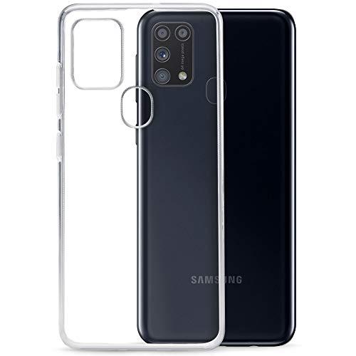 TPU Hülle kompatibel mit Samsung Galaxy M31 Transparent Clear Hülle Schutz Handy Tasche Silikon mit mungoo Bildschirmputztuch