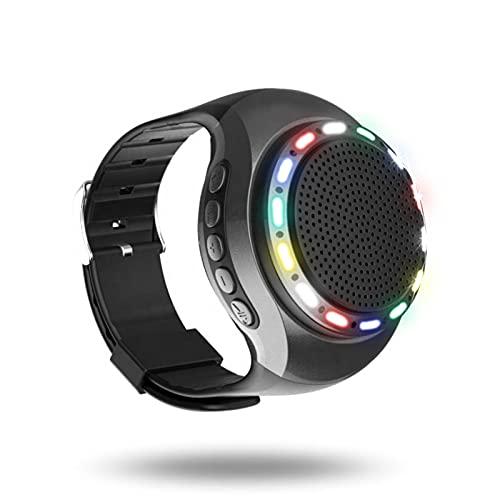ErLaLa Altavoz Bluetooth inalámbrico portátil,Mini Altavoz Bluetooth portátil,Llamada Manos Libres,inserte la Tarjeta TF,Luces de Colores