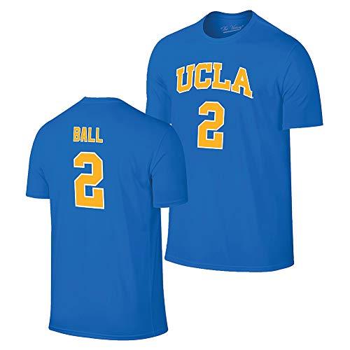 Elite Fan Shop Lonzo Ball Retro UCLA Bruins Basketball Jersey Tshirt - XX-Large - Lonzo Ball Blue