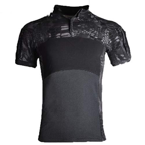 Militärische Kleidung Tops für Männer Langarm-Jagd-Shirt atmungsaktiv 1/4 Zip taktischen Kampf Top Airsoft T-Shirt 1-XL