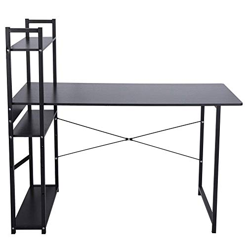N/Z Daily Equipment Computer Desk With Storage Shelf Study Table Bookcase Desk Writing Desk Workstation for Home Office Use
