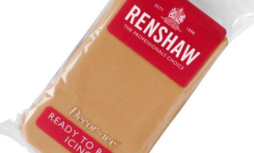 Renshaw Regalice Rollfondant 250 g - Teddy Bear Braun zum Torten überziehen