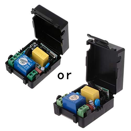 Fivekim AC 220 V 10 A 1 Ch RF 433 Mhz Receptor Mando a distancia inalámbrico + Kit transmisor remoto