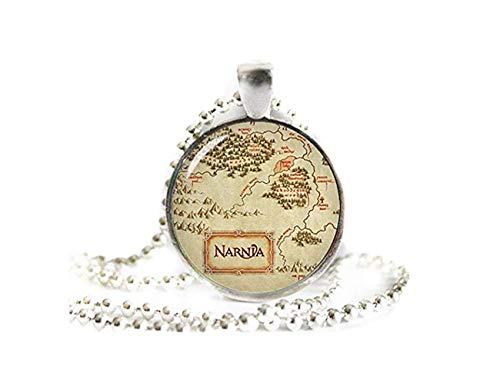 A little little love Collar con colgante de mapa de Narnia, collar de Narnia,