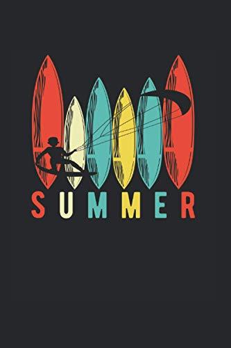 Summer | Kitesurfen Tagebuch Geschenkidee: Trainingsnotizen Notizbuch A5 120 Seiten liniert