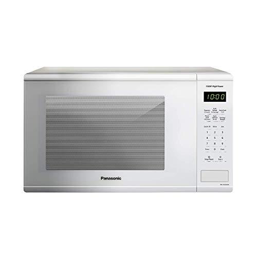 1100 Watt 1.3 Cu.Ft. White Countertop Microwave Oven, with Genius Centre