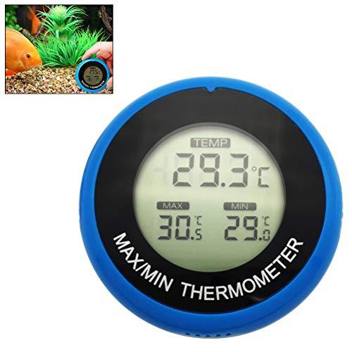Kylewo LCD digitale aquarium thermometer zeer nauwkeurige digitale waterdichte waterdichte waterthermometer voor aquarium/vijver/reptiele schildpads, habitatieruimtes (blauw)