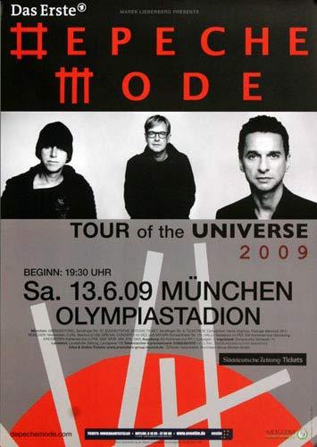 Depeche Mode München 2009 - Original Konzertposter, Konzertplakat