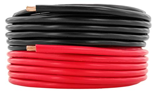 GS Power 12 AWG (American Wire Gauge) Pure Copper Primary Wire for Car Audio Speaker Amplifier Remote 12 Volt DC Automotive Trailer Harness Hookup Wiring. 10 feet Red 10 ft Black Combo