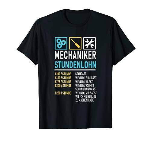 KFZ Mechaniker Stundenlohn Shirt I Mechatroniker Autofreak