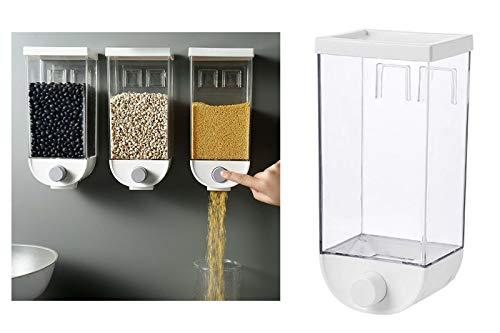 Driwei Dispenser Cereali da Parete 1.5L Contenitore erogatore distributore per Alimenti