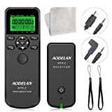 Camera Wireless Timer Remote Shutter Release, AODELAN Intervalometer HDR Remote Control for Sony A7RIII, A7III, A9, A7RII, A7R, RX100 VI, A6000, A77, A99, A6000, A6300; Replace RM-SPR1 and RM-L1AM