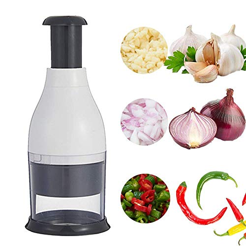 Crusher keuken handmatige universele Voedingsmiddelsnijmachine en meerdere chopper voor groenten en fruit is ideaal keuken gadgets,Gray