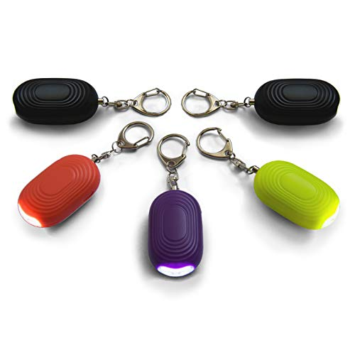 Safesound Personal Alarm Keychain – 130 dB Self Defense Sonic Protection Device with LED Light – Emergency Siren Song Alert Key Chain for Women Kids Senior and Joggers by WETEN 5 Pack