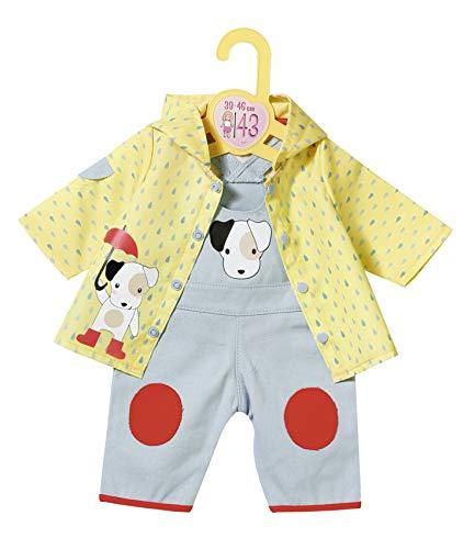 Zapf Creation 870525 Dolly Moda Latzhose mit Regenjacke, Puppenkleidung 39-46 cm