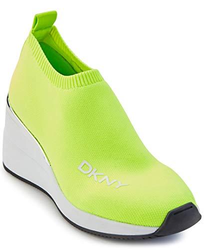 DKNY Damen Sneaker, Neongrüne Parks, 38 EU