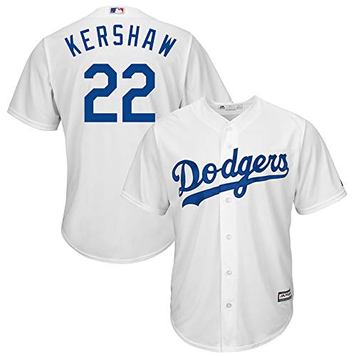 OuterStuff Clayton Kershaw Los Angeles Dodgers MLB Majestic Youth Kids 4-7 White Home Cool Base Player Jersey (Kids 5/6)