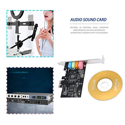 Carte Son Audio PCI-E Express 5.1ch CMI8738 avec Stock américain limité (Noir)