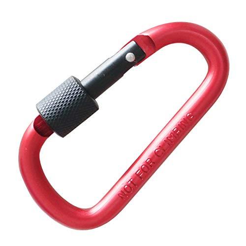 Crochet D type porte-clés en alliage d'aluminium/boucle de suspension de bouteille d'eau de sac à dos/crochet d'anneau de sécurité-Type D rouge