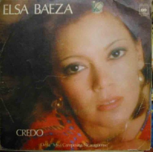 Antiguo vinilo Single - Old Vinyl single : ELSA BAEZA : Cred