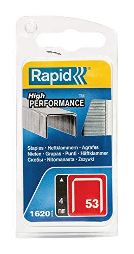 Rapid Tackerklammern Typ 53, 4mm Klammern, 1.600 Stk., Feindrahtklammern für Holz und Stoffe