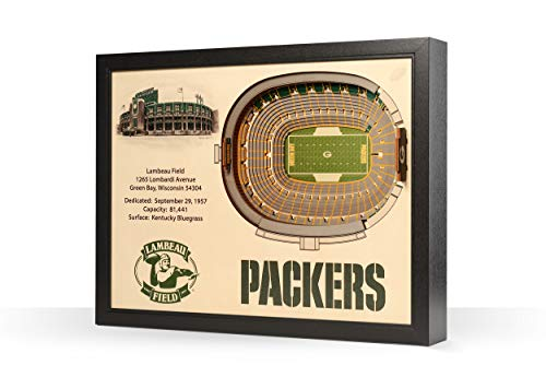 YouTheFan NFL Green Bay Packers 25-Layer StadiumView 3D Wall Art