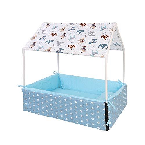 JXXZYH Pet Four Seasons Zelt, Abnehmbarer Winter warmes Haustier-Katzen-Bett, Abnehmbare Bequeme Sofa-Matte, geeignet für kleine und mittlere Hunde,Blau