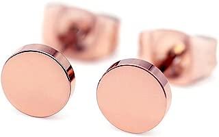 18k Rose Gold Plated dot earrings Tiny dot stud Earrings